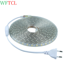 WFTCL SMD 5050 AC 110V led strip flexible light 1M/2M/3M/4M/5M/6M/7M/8M/9M/10M/15M/20M +Power Plug,60leds/m Waterproof led light
