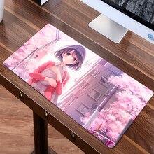 FFFAS 80x40cm Japan Anime Large Mouse Pad XL Gaming Mousepad Pretty Girl Friend Gift Katou Megumi Eriri Beautiful Desk Mat Decor