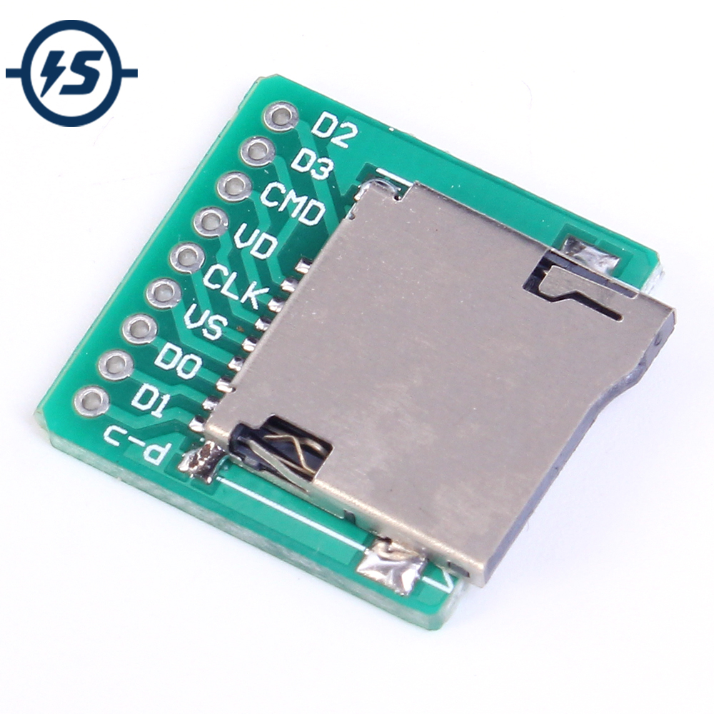 Memory Micro SD TF Card Board Card Interface Adapter Pinboard Module 20x20mm 2mm Ultra-small