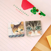 Купить с кэшбэком 4 set/Lot Kawaii cat familly magnetic bookmark Fresh kids gifts Cartoon Stationery Office accessories School supplies FC115