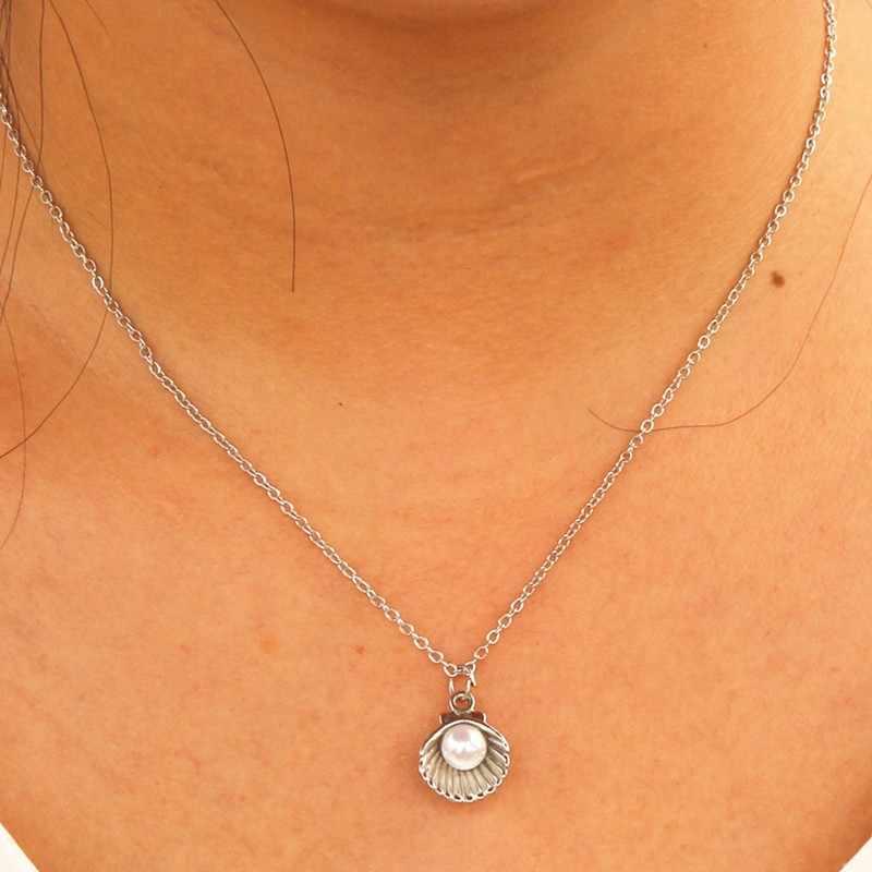 NK943 nowy Punk Vintage imitacja masa perłowa krótki łańcuszek naszyjnik Retro Gothic obojczyk Collares dla kobiet biżuteria wisiorek Colar