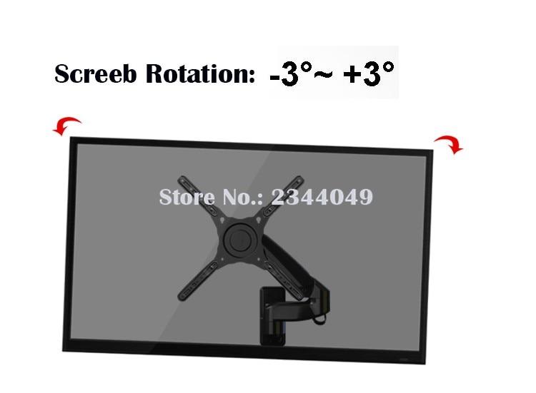 NB F500 Gas Spring 50-60 inch LED TV Wall Mount Monitor Holder Ergonomical Mount Loading 14-23kgs Max.VESA 400*400mm