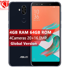 "New Original ASUS ZenFone 5Q ZC600KL Mobile Phone 6.0"" 4GB RAM 64GB ROM Octa Core 4 Cameras 16+20.0MP NFC ZenFone 5 Lite Phone(China)"