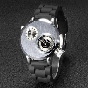 V6 Clock Watches Quartz Men Double-Time Casual Fashion New-Arrival Brand Gift Zone Silicone