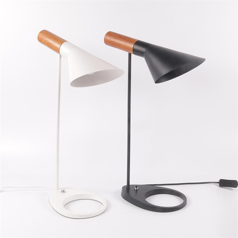 Modern Minimalist LED Desk Lamps Bedside Book Reading Study Office Work Table Lights Nordic Adjustable E27 Iron Art Lighting