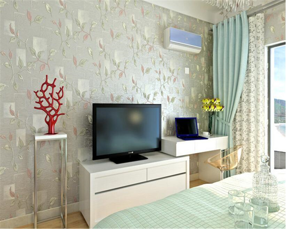 beibehang Rural non woven wallpaper papel de parede American retro living room TV background wall paper 3D leaves 3d wallpaper beibehang mediterranean blue striped 3d wallpaper non woven bedroom pink living room background wall papel de parede wall paper