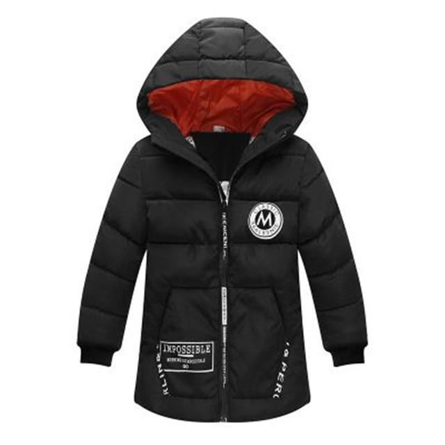 Kids Winter Jacket For Boy Warm Hooded Down jackets For Boys Jacket Teens Boy Zipper Coat Children Winter Clothing Boys Coat 1