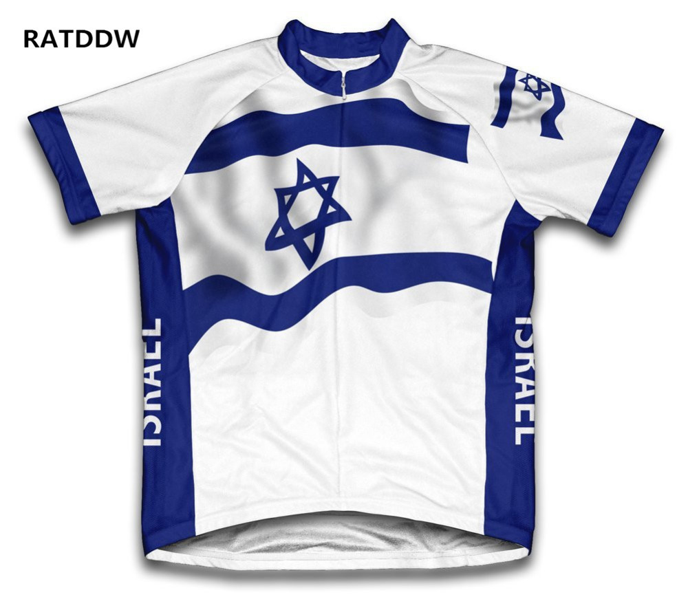 Vlajka Izrael Cyklistické dresy Cyklistické oblečení Krátký rukáv Cyklistické oblečení Sportovní oblečení Závodní kolo Ropa Ciclismo