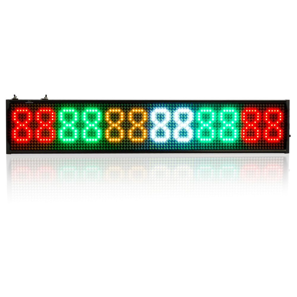 340x96x15mm LED Display Tri-color Scrolling Display Screen 110 220v Programmable Colorful Message Sign Board for Store Business high 8 5 inch red led desktop display board portable rechargeable usb programmable moving message store led business sign board