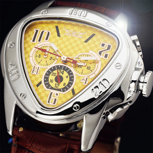 Leather Dial Relogio 24Hour