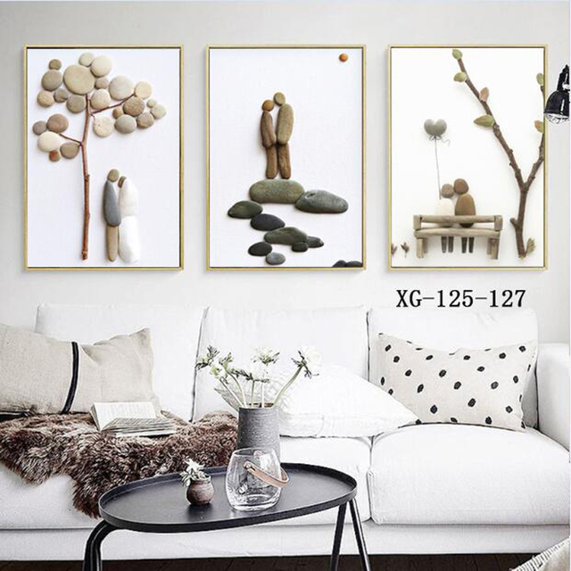 US 4040 40% OFFSimple Stone Romantic Wedding Decoration Sweet Couple Canvas Painting Wall Pictures For Living Room Bedroom Canvas Prints HY40in Gorgeous Bedroom Canvas Prints