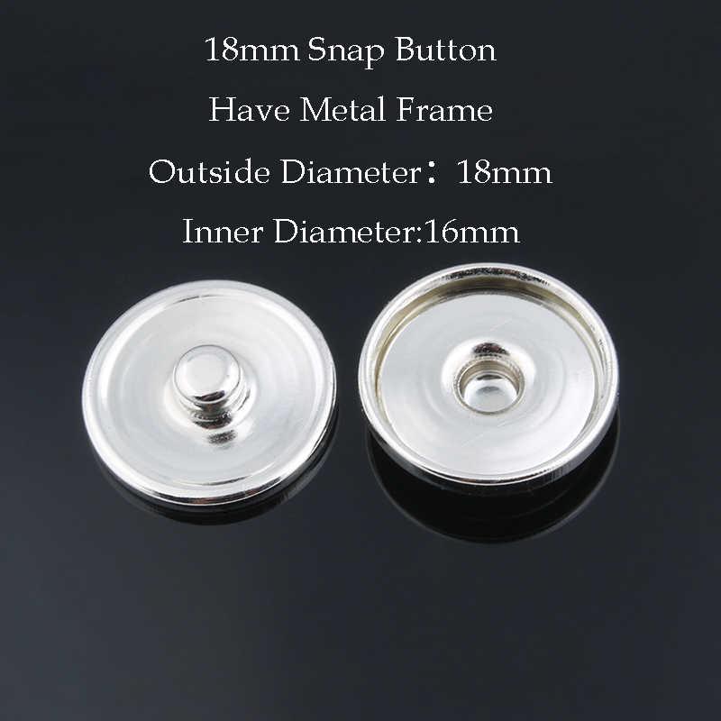 """50 יח'\חבילה חמה למכירה 12 מ""""מ & 18 מ""""מ & 20 מ""""מ כפתורי הצמד מתכת עבור להפוך את ההדפסה הצמד זכוכית או ריינסטון DIY כפתורי הצמד אבזרי ZM032"""