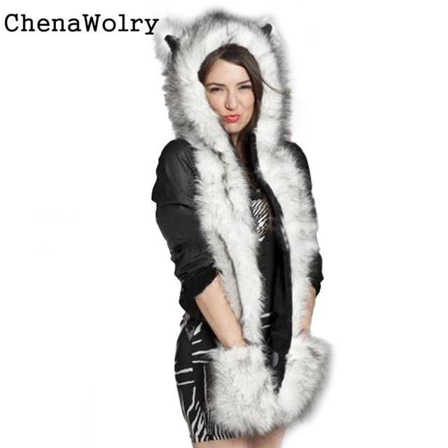 Ocasional 2016 Venda quente Atraente Luxo Mulheres Faux Fur Beanie Chapéu morno do Inverno Manter Aquecido Luvas de Novembro de Bolso Frete Grátis 22