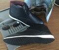 Latest style Men's Shoes Boys Black Men boots men casual designer shoes Genuine Leather Massage Deodorization