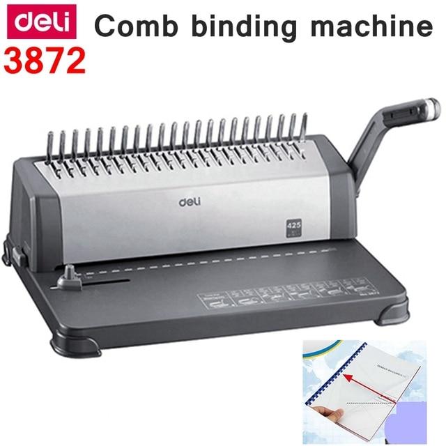 Deli 3872 Manual Comb Binding Machine Office Financial