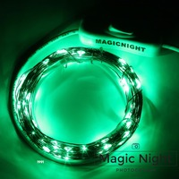 Magicnight 33FT 100 LED USB Powered Operated Led String Starry Light Copper Wire Green Color Camping Lights and TV Backlight