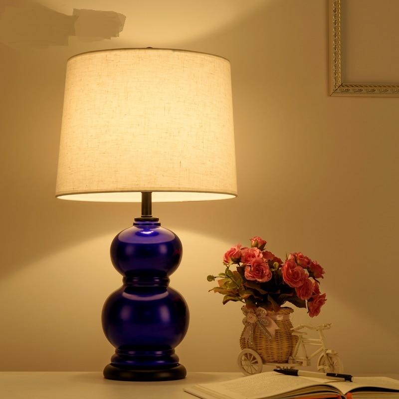 Американский стиль Настольные лампы Nordic простой Гостиная Исследование прикроватная тумбочка для спальни современные керамические Творче...