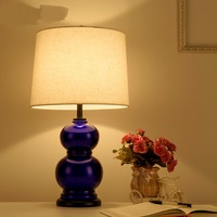 American Style Table Lamp Nordic Simple Living Room Study Bedroom Bedside Ceramic Modern Creative Desk Lamp