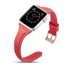 Red Color Leather Watch Band Strap For Apple watch 38mm , VIOTOO Women Genuine WatchBand