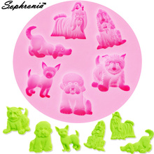 Sophronia M294 Dog Lion Tiger Bear Silicone Mold DIY Fondant Mold Baking Tool Cookies Pastry Sugar Decoration Clay Crafts Jelly lp m294
