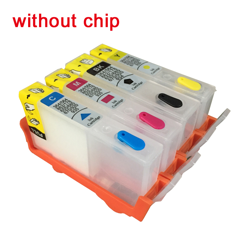 903 Refillable Ink font b Cartridge b font Replacement For HP 903 904 905 OfficeJet Pro