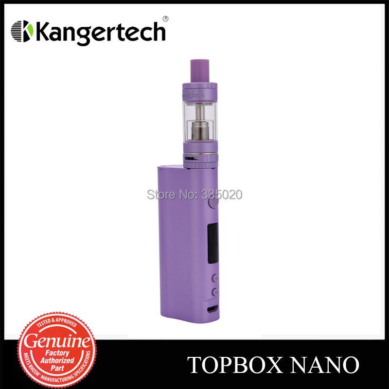 все цены на  Original Kanger Topbox Nano Starter Kit 60W TC Mod With Toptank Nano Atomizer 18650 Box Mod  онлайн