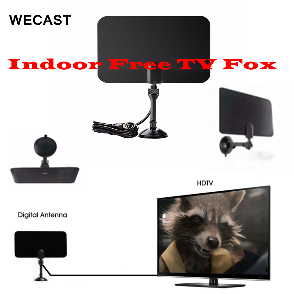HDTV TV Fox Scout Digital Analog Antenna Indoor Free TVFox Antenna Receiver DVB-T DVB-T2 High Definition TV Stick With Stand