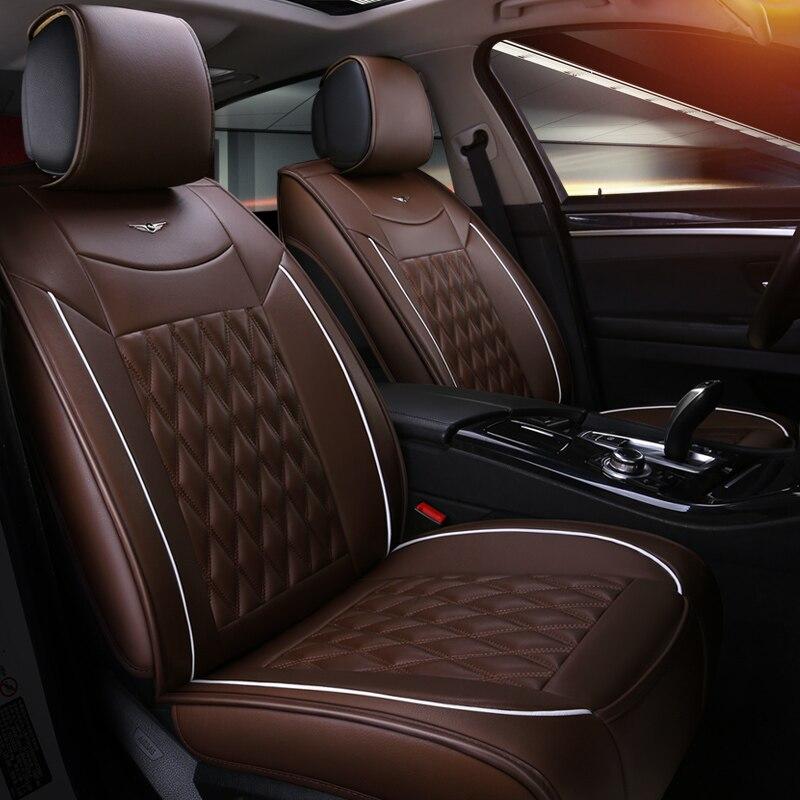 Universal car seat cover High quality leather car protector For Fiat Ottimo 500 Panda Punto jeep isuzu lada MG car accessories