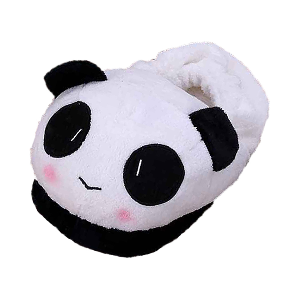 ABDB Slipper Indoor Novelty for Lovers Winter Warm Slippers Lovely Cartoon Panda Face Soft Plush Household Thermal Shoes 26cm millffy plush panda animal big head lovely plush slipper adult funny slippers panda slippers