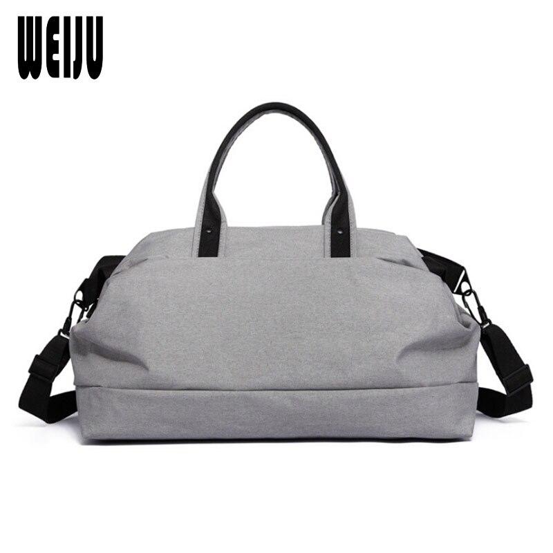WEIJU Men Travel Bags 2017 New Large Capacity Multifunctional Hand Luggage Bag Casual Business Traveling Shoulder Bag