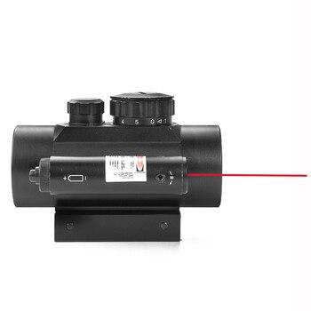 Taktische 1X40 MM Rot Grün Dot Sight Scope Optic Kollimator Jagd Zielfernrohr Mit 11/20MM Schwalbenschwanz für Gewehr Outdoor Air Gun