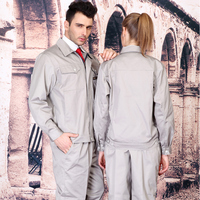 Fashion set of jacket+ pants anti static work wear long sleeve uniform gas station uniform car service uniform