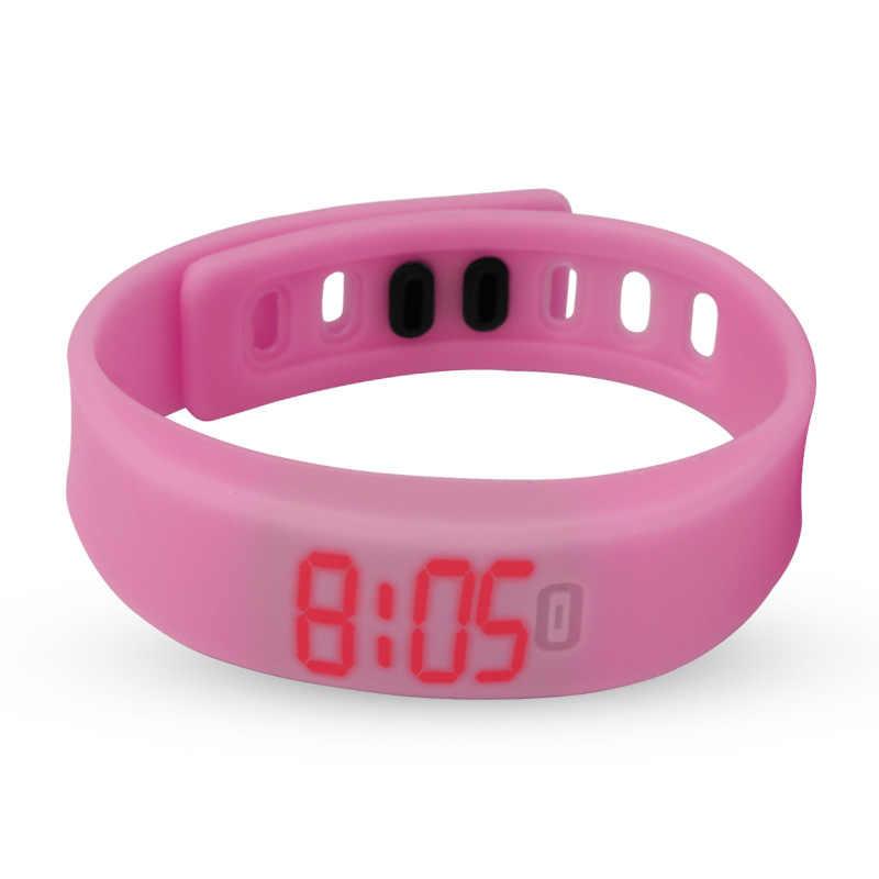 Relojes de pulsera digitales de lujo para hombre con luz LED roja Horizontal de silicona de moda