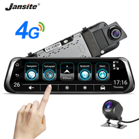 Jansite car mirror camera 10 inch car dvr vehicle mirror ADAS Car Video Recorder 3G 4G backup camera view HD movies Touch screen