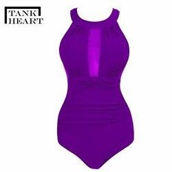 Сексуальный цельный купальник с принтом в виде сердца, монокини размера плюс, женская одежда для плавания, Цельный купальник для девочек, ку... 5
