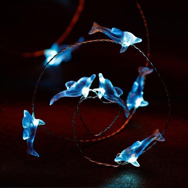 Dolphin String Lights 10ft 40 Led Ocean Sea Beach Camping Fairy Decor Lighting Holdiday Festival Home