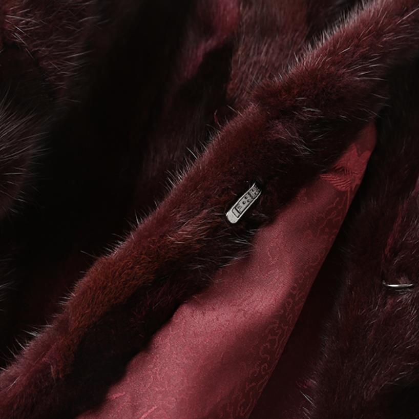 Printemps Vison Magasin 11 cou Red Naturelle Chewies 7 Manteau Hiver Long Plus Taille Survêtement Factory Femmes O Outlet Réel Veste Brown Sur Nouveau La Fourrure qUOpxE