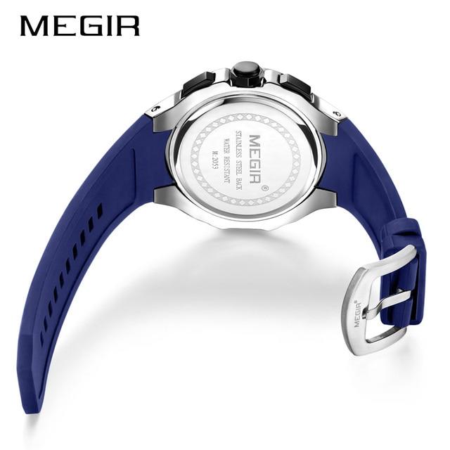 Megir relógio do esporte dos homens marca de luxo à prova dwaterproof água luminoso cronógrafo quartzo militar do exército relógios relógio masculino relogio masculino 4