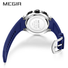 2020 NEW MEGIR MEN/WOMEN 3ATM LUXURY FULL CHRONOMETER WRIST WATCH