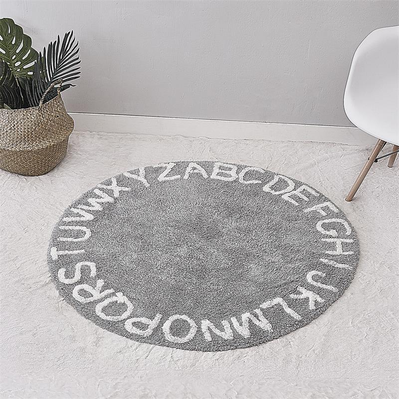 Scandinavian Cotton Kids Baby Play Round Floor Rug Carpet Teepee Rug Mat Nursery Room Decor 120cm Diameter leaves pineapple print floor rug