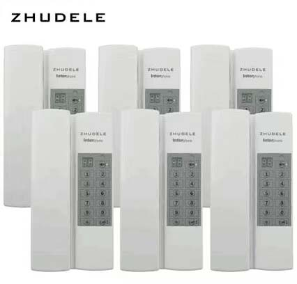 Safe&comfortable Home Interphone, Zhudele Indoor Audio Intercom System 6-handles W/t Broadcast/group Call,unlock optional