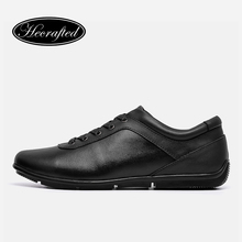 Genuine leather men casual shoes 36~48 Hecrafted 2017 Fashion Walking men shoes #AB303