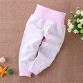 2017 Moda Elástico de Cintura Alta Pantalones de Las Muchachas Polainas Del Bebé Pantalones de Algodón de Impresión Venta Caliente Muchacha Del Harem Pantalones Pantalones Recién Nacido