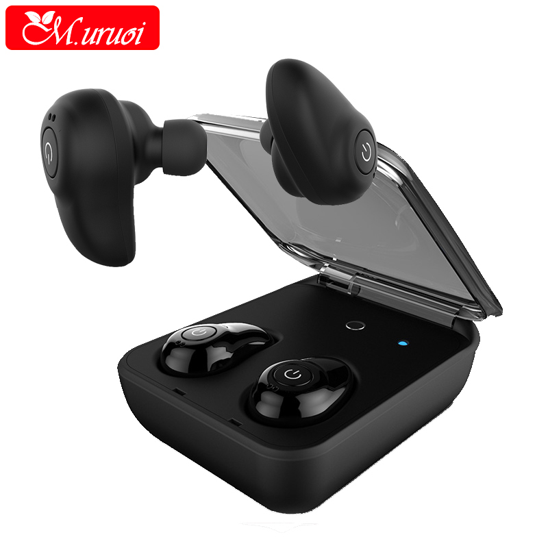 M.uruoi Mini Wireless Bluetooth Earphone Sports in-Ear Earbuds Bass Stereo Earpiece Earphones For iphone Android Micro Headset vodool bluetooth earphone earbud mini wireless bluetooth4 1 headset in ear earphone earbud for iphone android smartphone