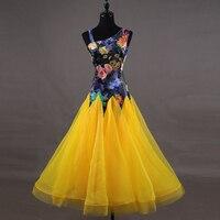 Ballroom Dance Dresses Competition Dancewear Modern Women Flamenco Waltz Tango Smooth Ballroom Dance Costumes flower Q058
