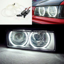 Para BMW E36 Serie 3 con angel eyes faros Euro 1992-1998 Excelente Ultrabright iluminación CCFL Angel Eyes kit Anillo de Halo