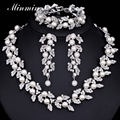 Minmin Sintético Perla Deja Perlas Africanas Joyería Conjunto Sistemas de La Joyería Nupcial de Cristal para Las Mujeres Joyería de La Boda TL283 + SL089
