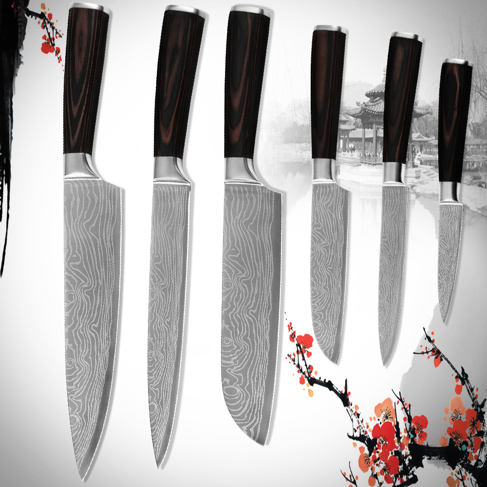 Hot sale best kitchen knife sets high quality 7CR17 stainless steel ...