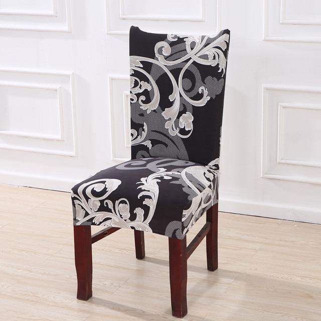 פרחוני הדפסה למתוח אלסטי כיסא מכסה ספנדקס לחתונה אוכל חדר משרד אירועים housse דה נוח כיסא כיסוי