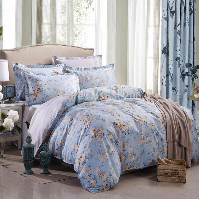 Hot Sale! Floral Duvet Cover Set,Pastoral Double Bed Sets, American  Countryside Style